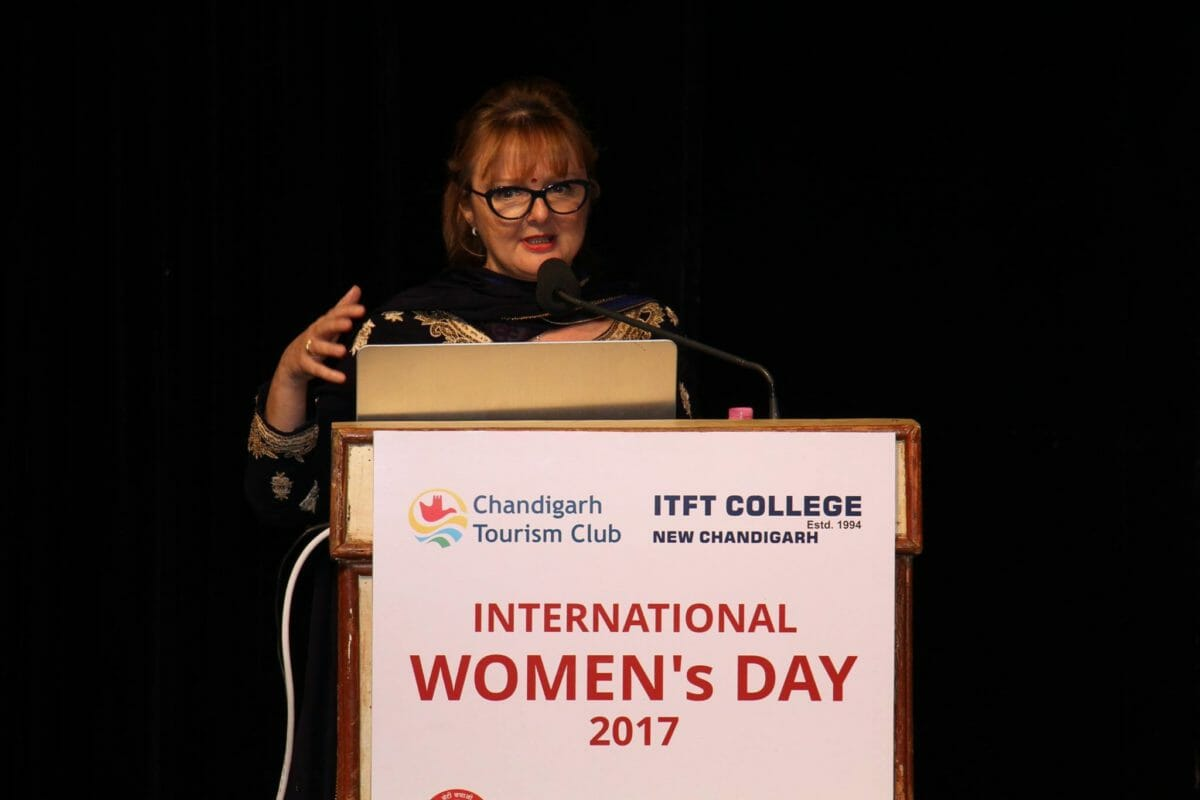 Dr Ivana Modena at International Women Day 2017 in Chandigargh India