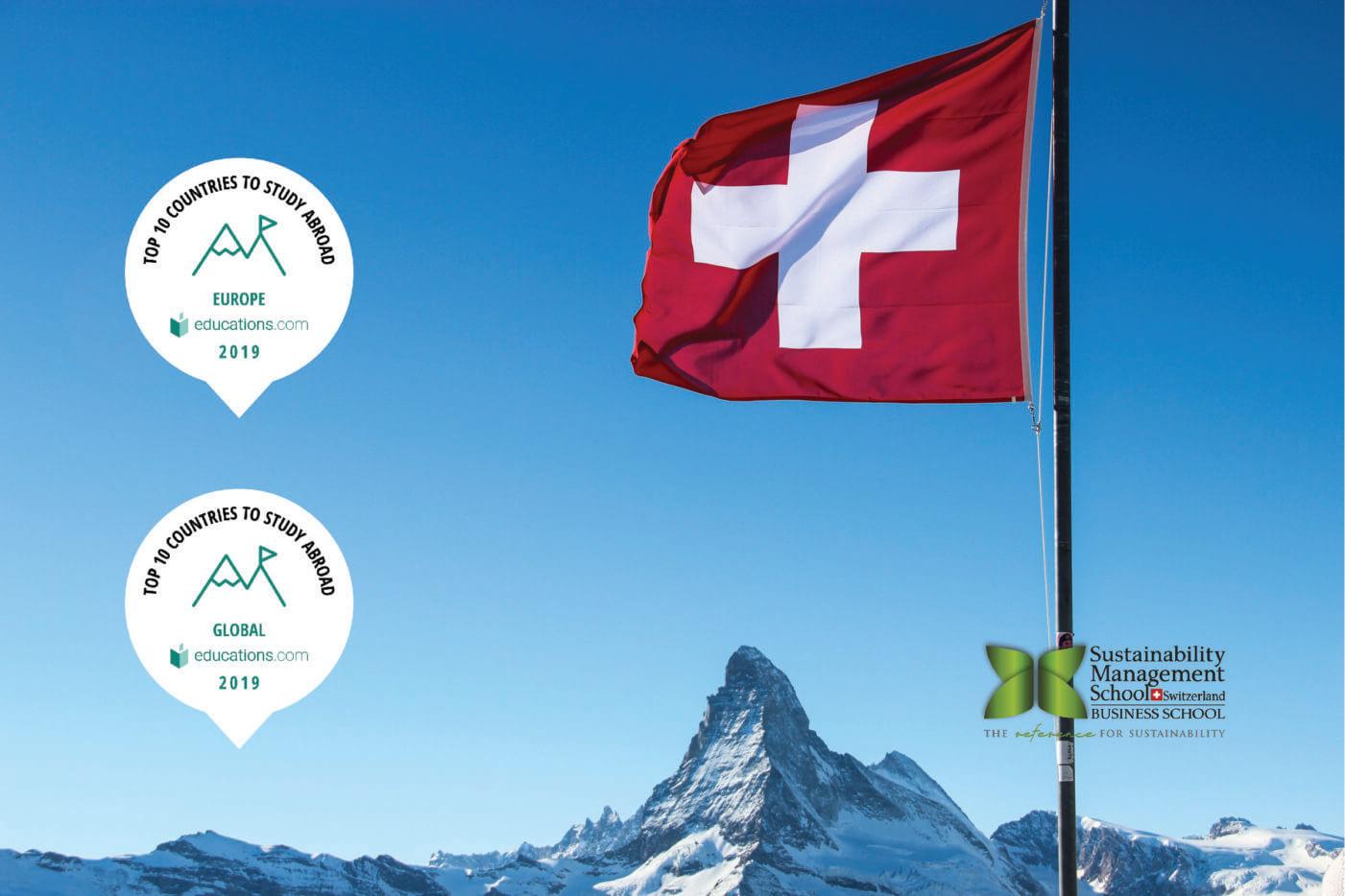 Switzerland ranks #3 study abroad destination in Europe!