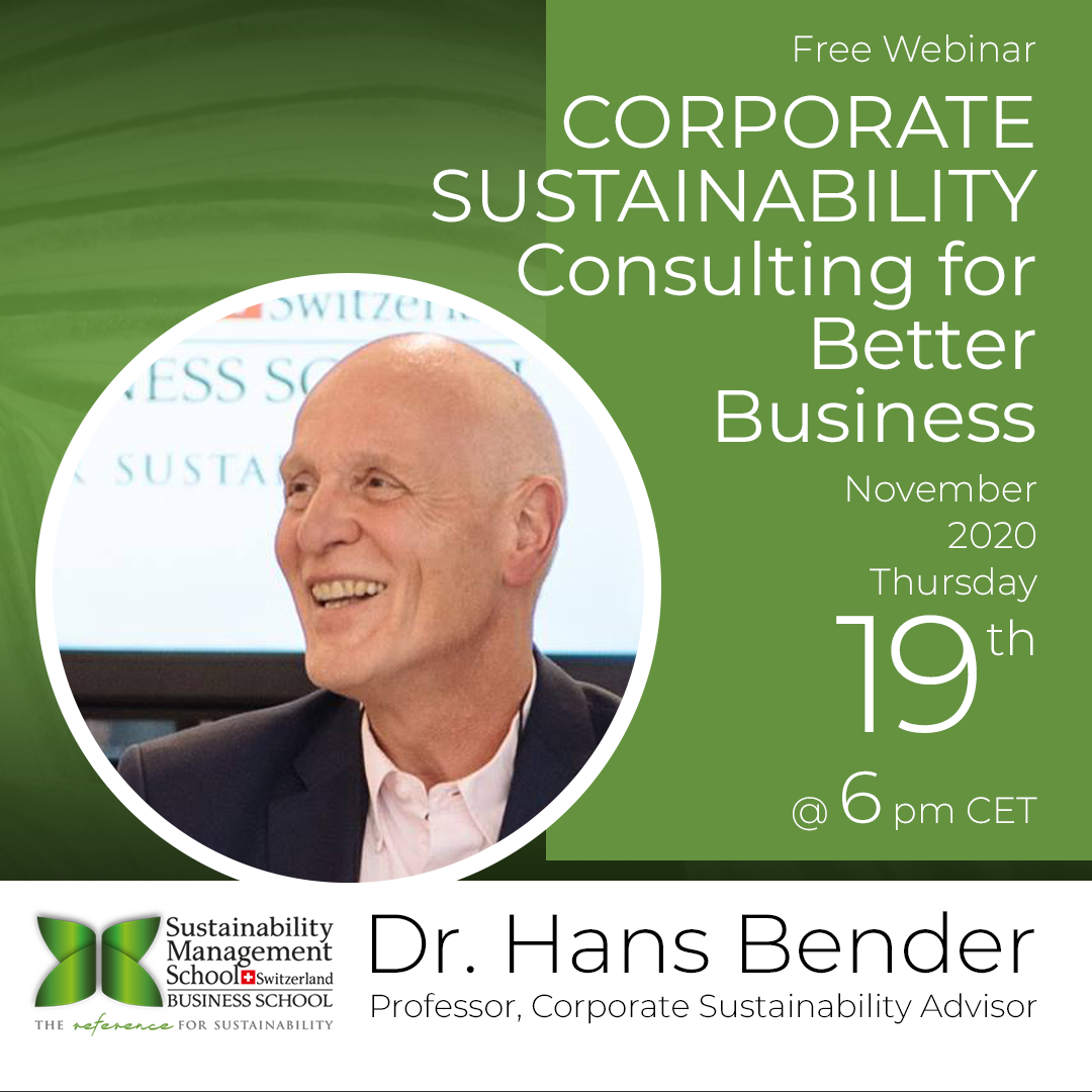 CORPORATE SUSTAINABILITY: Consulting for Better Business
